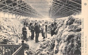Wool Market Mercado Buenos Aires Argentina 1905c postcard