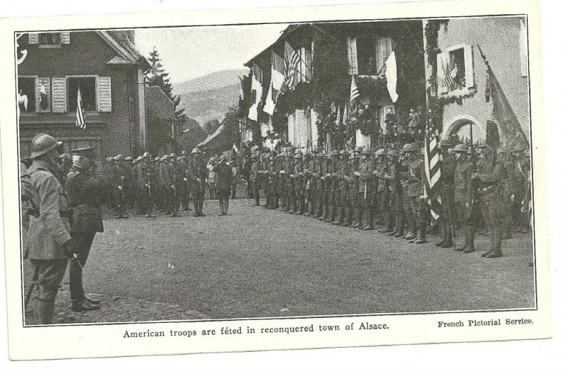 WW2, American Troops in reconquered Alsace, Real Photo Postcard