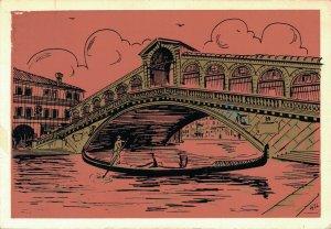 Italy Venezia Ponte di Rialto e gondola Venice BS.03