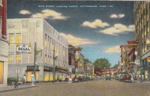 HATTIESBURG , Mississippi , 1930-40s : Main Street looking North