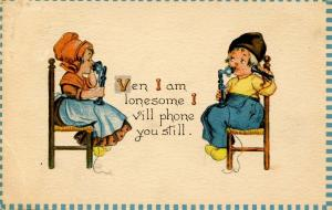 Ven I am lonesome...          Artist Signed: (Unsigned) Bernhardt Wall