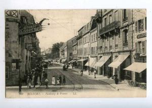 214065 FRANCE BELFORT Fauborg de France shops Vintage postcard