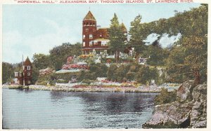 THOUSAND ISLANDS, Ontario, 1900-1910's; Hopewell Hall, Alexandria Bay