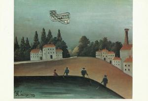 HENRI ROUSSEAU fishermen art postcard