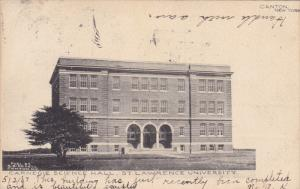 CANTON, New York, PU-1907; Carnegie Science Hall, St. Lawrence University