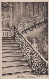 Kensington Palace London King Kings Great Stairs Staircase Old Antique Postcard