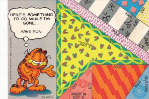 Jim Davis Garfield Puzzle Card