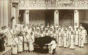 Raja Yoga International Chorus Point Loma CA c1915 Real Photo Postcard xst