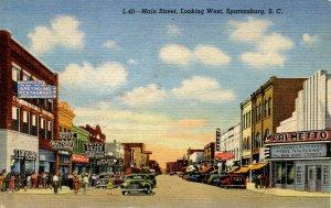SC - Spartanburg. Main St looking West