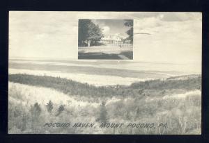 Mount Pocono, Pennsylvania/PA/Penn Postcard, Pocono Haven Resort, 1950!