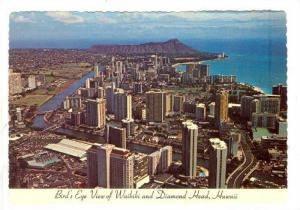 Bird's Eye View of Waikiki and Diamond Head, Hawaii, 50-70s