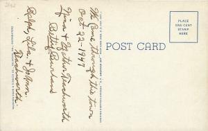 Valdosta Georgia~Ocean Pond Hunting Fishing Club~Spanish Moss~1939 Postcard