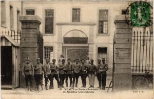 CPA MILITAIRE Meaux-Porte d'honneur du Quartier Luxembourg (316989)