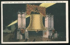 Giant Liberty Bell Replica Sesqui Centennial Expo Phila PA