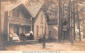 Sidney Camp Meeting Grove Sidney NY Postal Used Unknown