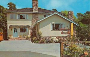 Carmel By The Sea California Sunset House Street View Vintage Postcard K52655