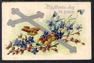 Easter Cross Flowers Birds