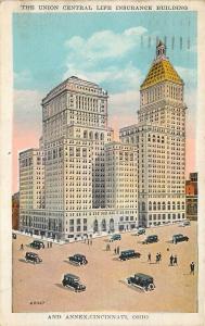 Cincinnati Ohio 1929 Postcard Union Central Life Insurance Building & Annex