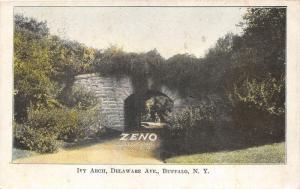 Buffalo New York~Delaware Avenue-Ivy Arch~Zenith Chewing Gum Advertisement~c1905