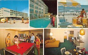 Wildwood Crest NJ Nassau Inn Coin Operated Machines Pool Beach Billiard Postcard