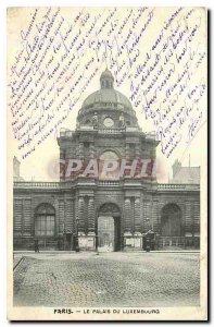 Old Postcard Paris Palais du Luxembourg