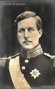 S.M. Albert, roi des Belges Royalty  Real Photo Postcard