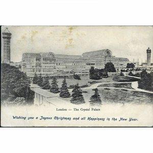 S. S. & Co. Christmas Greetings Postcard 'London - The Crystal Palace'