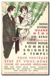 Postcard Old Female Child Syphilis