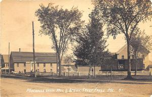 Steep Falls ME Mitchell's Grain Mill & Store Railroad Car RPPC Postcard