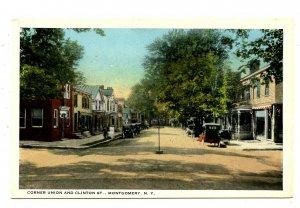 NY - Montgomery. Corner of Union & Clinton Streets