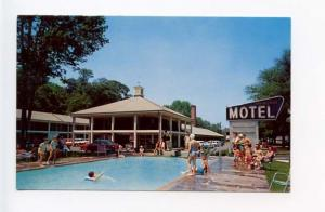 Elmsford NY Saw Mill River Motel on Sawmill River Parkway Old Cars Postcard