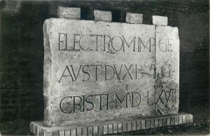 Gyor Hungary 1961 Varmuzeum Becsi kapu feletti feliratos ko