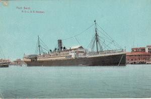 PORT SAID , Egypt , 00-10s; Ocean Liner N.D.L.S.S. Goeben