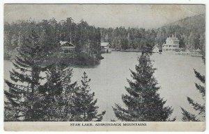 Vintage Postcard View of Star Lake, Adirondack Mountains, New York, 1909