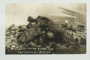 Boyertown PENNSYLVANIA RP 1908 Opera House Fire DEAD BODIES Charred TRAGEDY