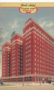 Exterior,  Ford Hotel,  Delaware Avenue,  Buffalo,  New York,  PU_1943