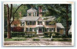 Postcard Wayside Home of Hawthorne, Concord MA phostint G33