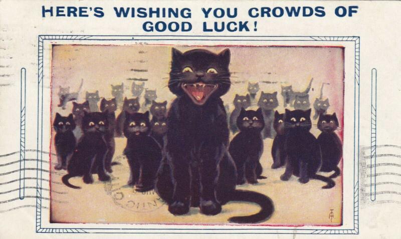 COMICS; PU-1931; Crowd of Black Cats