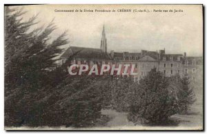 Old Postcard Community of Divine Providence of Crehen Party from the garden