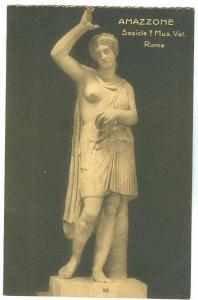 Amazzone, Sosicle ? Mus. Vat. Roma, early 1900s unused Postcard