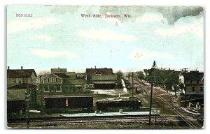 West Side, Jackson, WI Postcard *7C(2)9