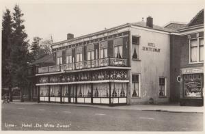 Lisse Hotel De Witte Zwaan Real Photo Dutch Old Postcard