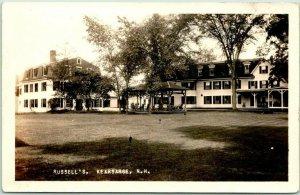 Kearsarge, New Hampshire RPPC Real Photo Postcard RUSSELL'S Inn Hotel c1920s