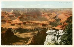 AZ - Grand Canyon National Park. View from Hotel El Tovar