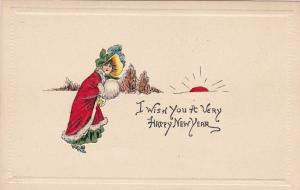 NEW YEAR, Woman holding snow ball, Feather hat, 00-10s