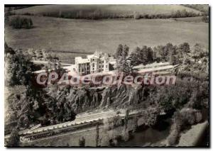 Postcard Modern Mesnil Clay near Orne Ecouche Aerial view of the Castle
