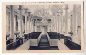 Interior Christ Church, Protestant Episcopal, Cambridge MA