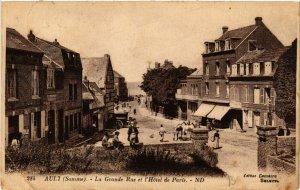 CPA AULT - La Grande Rue et l'Hotel de Paris (514565)