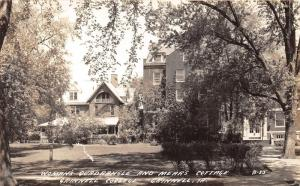 Iowa~Grinnell College~Womans Quadrangle-Mears Cottage~Note Bk~RPO Postmark~RPPC