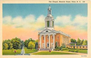 Linen Card of The Chapel Masonic Home Utica NY New York